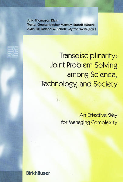 Transdisciplinarity: Joint Problem Solving among Science, Technology, and Society - Coverbild