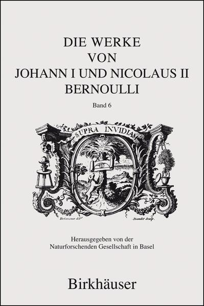 Die Werke von Johann I und Nicolaus II Bernoulli - Coverbild