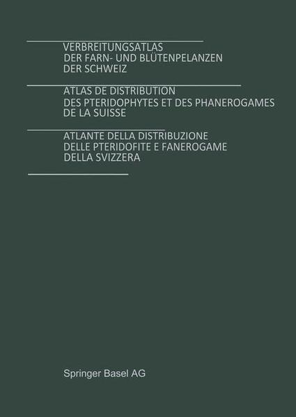 Verbreitungsatlas der Farn- und Blütenpflanzen der Schweiz Bd. 1 + 2 - Coverbild
