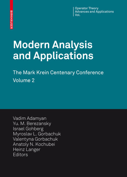 Modern Analysis and Applications - Coverbild