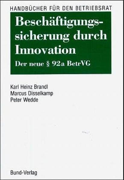 Beschäftigungssicherung durch Innovationen - Coverbild