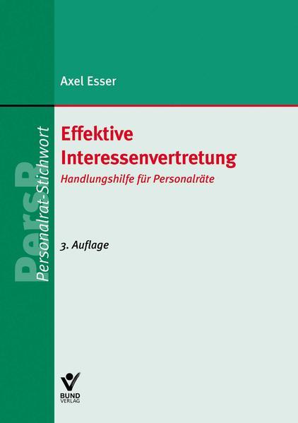 Effektive Interessenvertretung - Coverbild
