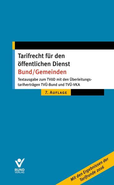Tarifrecht für den öffentlichen Dienst Bund/Gemeinden - Coverbild