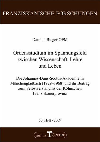 Ordensstudium im Spannungsfeld zwischen Wissenschaft, Lehre und Leben - Coverbild