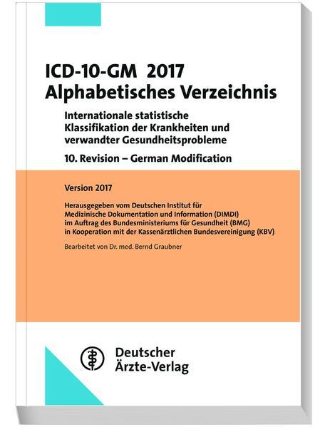 ICD-10-GM 2017 Alphabetisches Verzeichnis - Coverbild