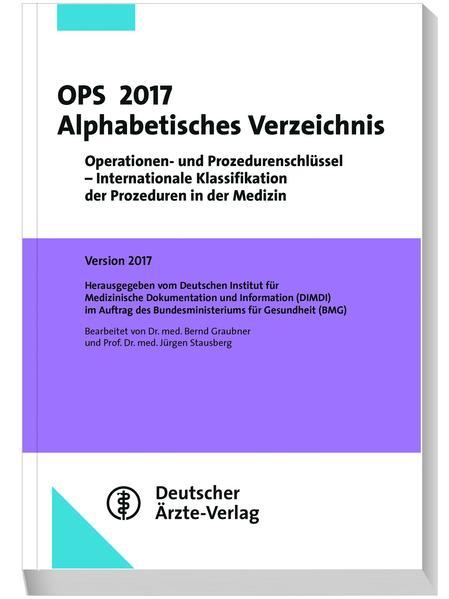 OPS 2017 Alphabetisches Verzeichnis - Coverbild