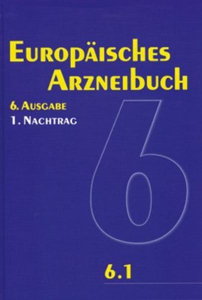 Europäisches Arzneibuch 6. Ausgabe, 1. Nachtrag (Ph.Eur. 6.1) - Coverbild