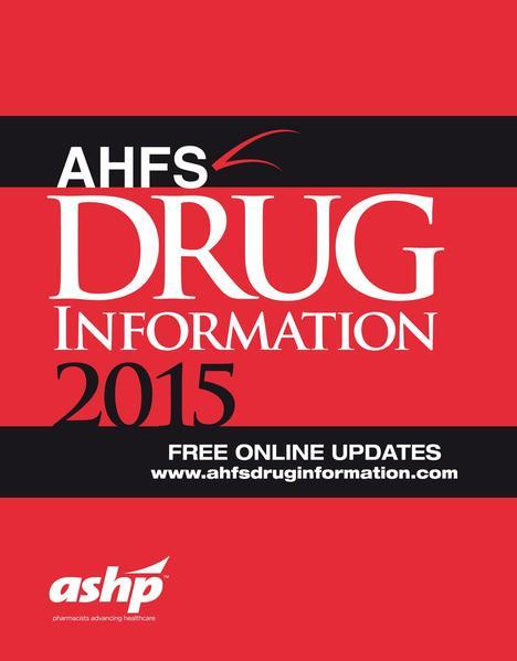AHFS Drug Information 2015  - Coverbild