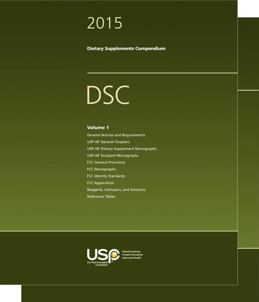 USP Dietary Supplements Compendium 2015 - Coverbild