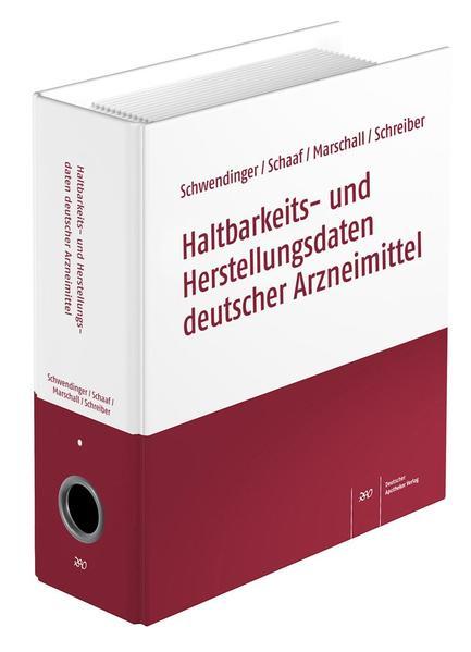 Haltbarkeits- und Herstellungsdaten deutscher Arzneimittel - Coverbild