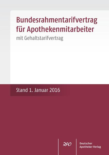 Bundesrahmentarifvertrag für Apothekenmitarbeiter - Coverbild