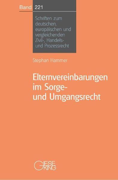 Elternvereinbarungen im Sorge-und Umgangsrecht PDF