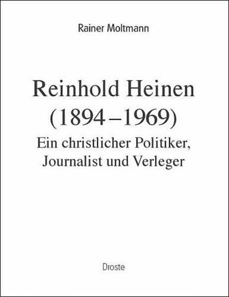 Reinhold Heinen (1894-1969) - Coverbild