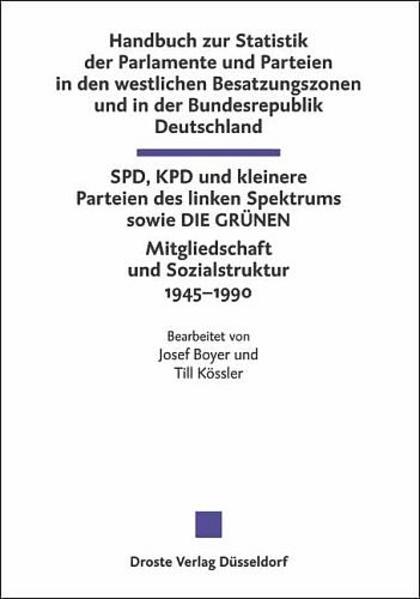 Handbuch zur Statistik der Parlamente und Parteien in den westlichen Besatzungszonen und in der Bundesrepublik Deutschland - Coverbild