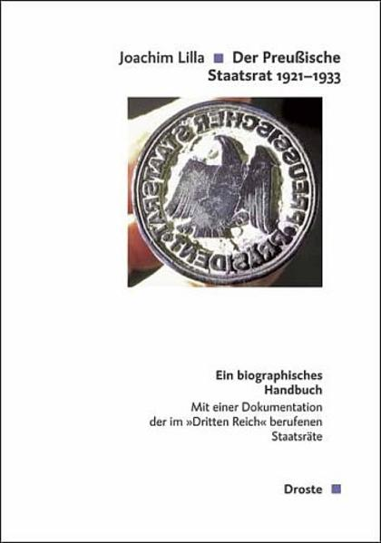 Der preußische Staatsrat 1921-1933 - Coverbild