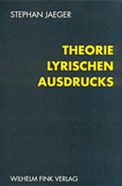 Theorie lyrischen Ausdrucks - Coverbild