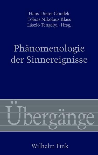 Phänomenologie der Sinnereignisse - Coverbild