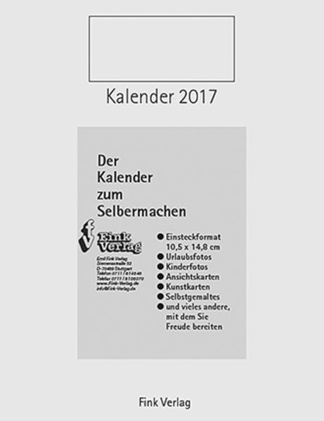 Kalender zum Selbermachen 2017 - Coverbild