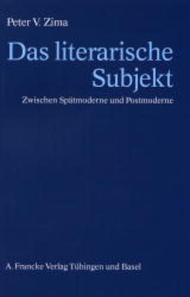 Das literarische Subjekt - Coverbild