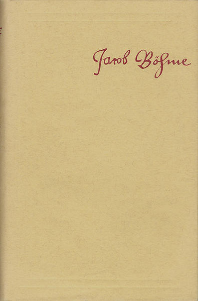 Jacob Böhme: Sämtliche Schriften / Band 2: De tribus principiis, oder Beschreibung der Drey Principien Göttliches Wesens (1619) - Coverbild