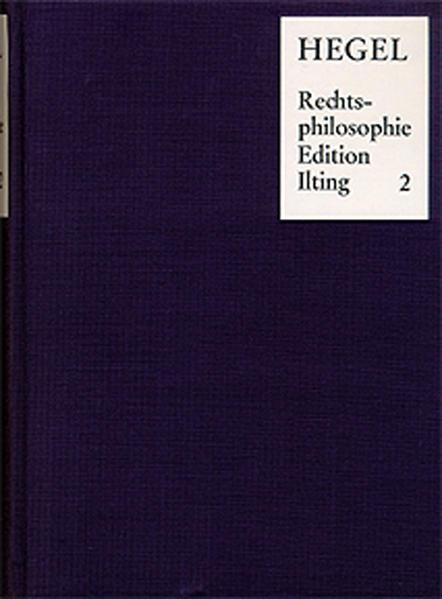 Vorlesungen über Rechtsphilosophie 1818-1831 / Band 2 - Coverbild