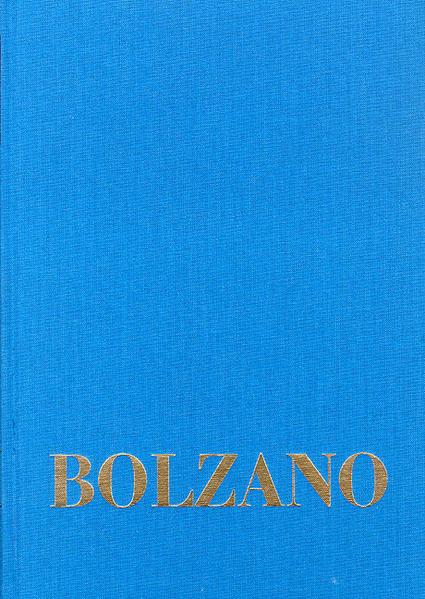 Bernard Bolzano Gesamtausgabe / Reihe I: Schriften. Band 8,3: Lehrbuch der Religionswissenschaft. Dritter Teil. §§ 167-234 - Coverbild