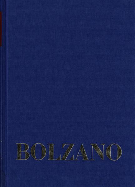 Bernard Bolzano Gesamtausgabe / Reihe II: Nachlaß. B. Wissenschaftliche Tagebücher. Band 6,2: Miscellanea Mathematica 10 - Coverbild