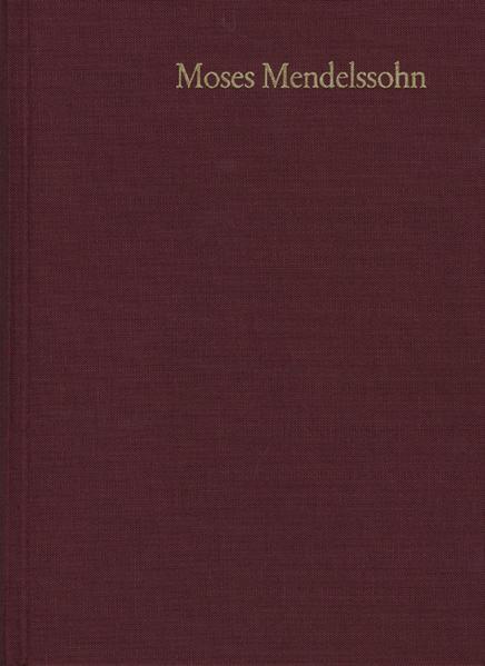 Moses Mendelssohn: Gesammelte Schriften. Jubiläumsausgabe / Band 8: Schriften zum Judentum II - Coverbild