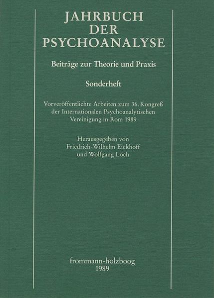 Jahrbuch der Psychoanalyse / Vorveröffentlichte Arbeiten zum 36. Kongreß der Internationalen Psychoanalytischen Vereinigung in Rom 1989 - Coverbild