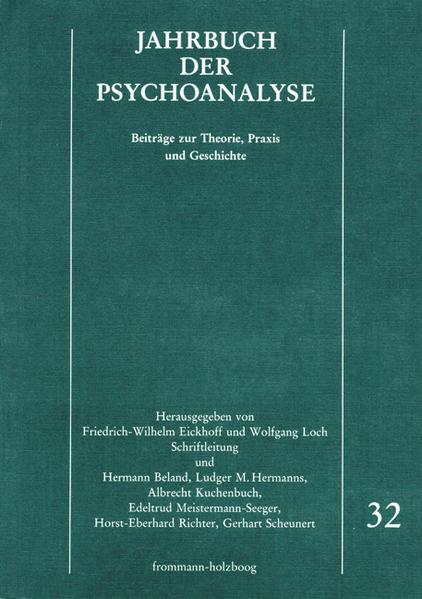 Jahrbuch der Psychoanalyse / Band 32 - Coverbild