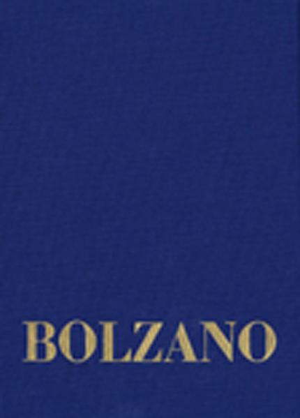 Bernard Bolzano Gesamtausgabe / Reihe II: Nachlaß. A. Nachgelassene Schriften. Band 18,1: Erbauungsreden des Studienjahres 1810/1811. Erster Teil - Coverbild
