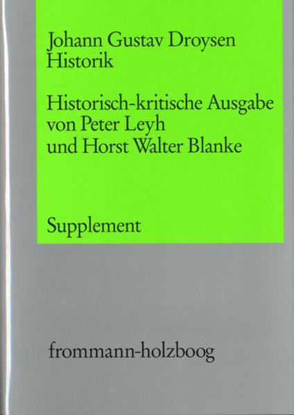 Historik. Supplementband - Coverbild