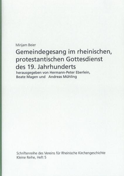 Gemeindegesang im rheinischen, protestantischen Gottesdienst des 19. Jahrhunderts - Coverbild
