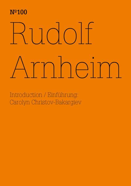 Rudolf Arnheim - Coverbild