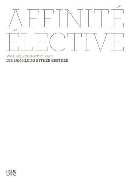 Affinité élective. Wahlverwandtschaft - Coverbild