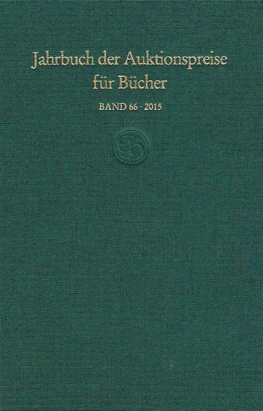 Jahrbuch der Auktionspreise für Bücher, Handschriften und Autographen (Buch) - Coverbild