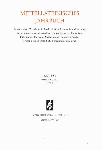 Mittellateinisches Jahrbuch. Internationale Zeitschrift für Mediävistik und Humanismusforschung - Coverbild