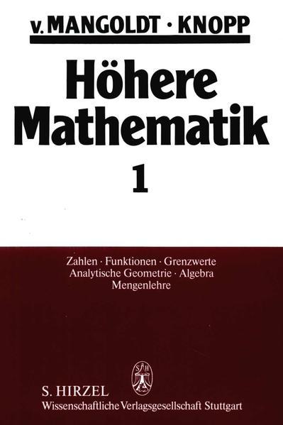 Höhere Mathematik  Eine Einführung für Studierende und zum Selbststudium. Band 1 - Coverbild