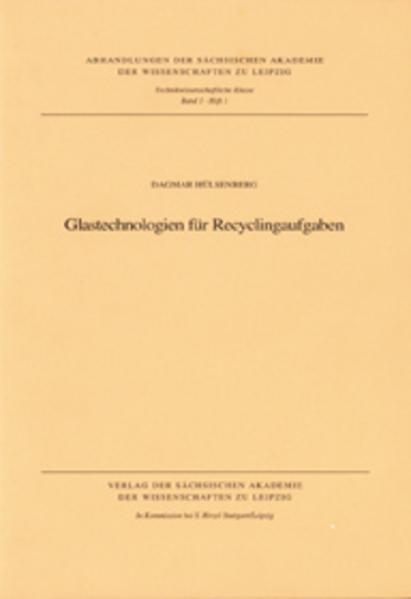 Glastechnologien für Recyclingaufgaben - Coverbild