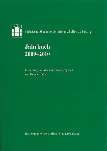 Sächsische Akademie der Wissenschaften zu Leipzig. Jahrbuch 2009–2010 - Coverbild