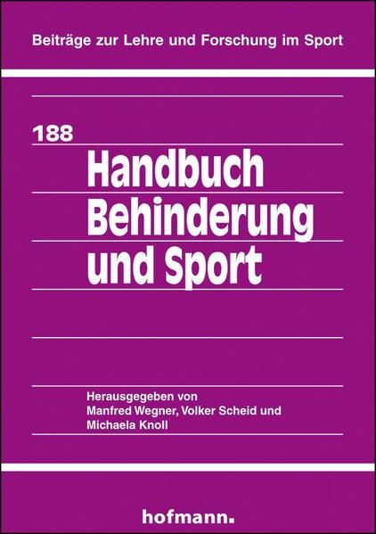 Handbuch Behinderung und Sport - Coverbild