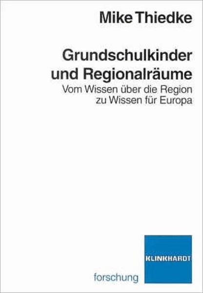 Grundschulkinder und Regionalräume - Coverbild