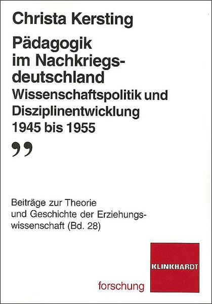Pädagogik im Nachkriegsdeutschland - Coverbild