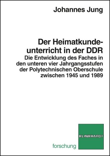 Der Heimatkundeunterricht in der DDR - Coverbild