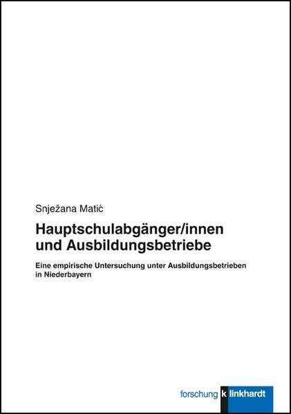 Hauptschulabgänger/innen und Ausbildungsbetriebe - Coverbild
