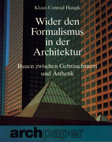 Wider den Formalismus in der Architektur - Coverbild