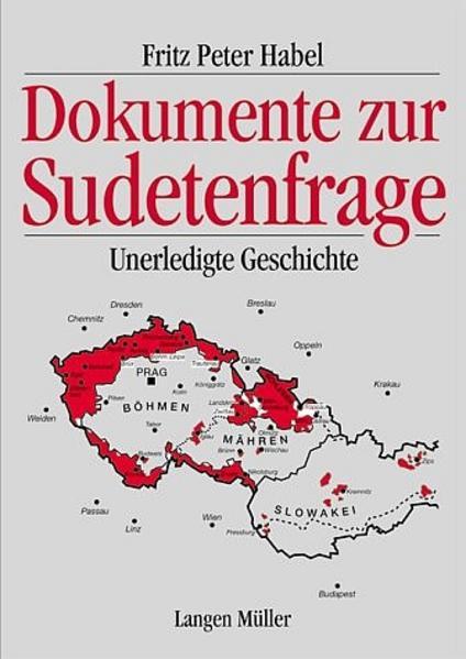 Dokumente zur Sudetenfrage - Coverbild