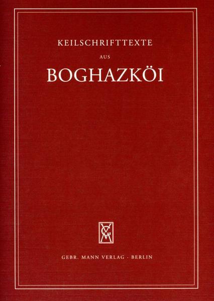 Textfunde von Büyükkale aus den Grabungen 1952-1959 mit Nachträgen aus den dreißiger Jahren - Coverbild