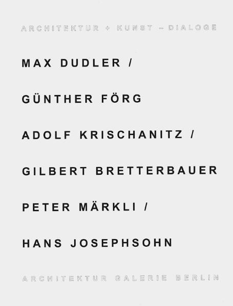 Architektur + Kunst - Dialoge - Coverbild