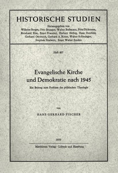 Evangelische Kirche und Demokratie nach 1945 - Coverbild